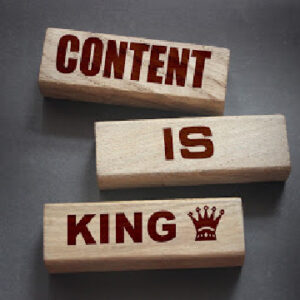 Content is King when it comes to ranking your website on the Internet